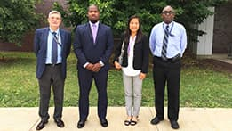 US Department of State sponsor Demetrius Davis visits the lab on July 13th for the 2017 Annual Program Review. Pictured above (left to right): Jordi Roglans-Ribas (Division Director), Demetrius Davis (DOS Sponsor), Sunaree Hamilton (Office Director), and Temitope Taiwo (Deputy Division Director)